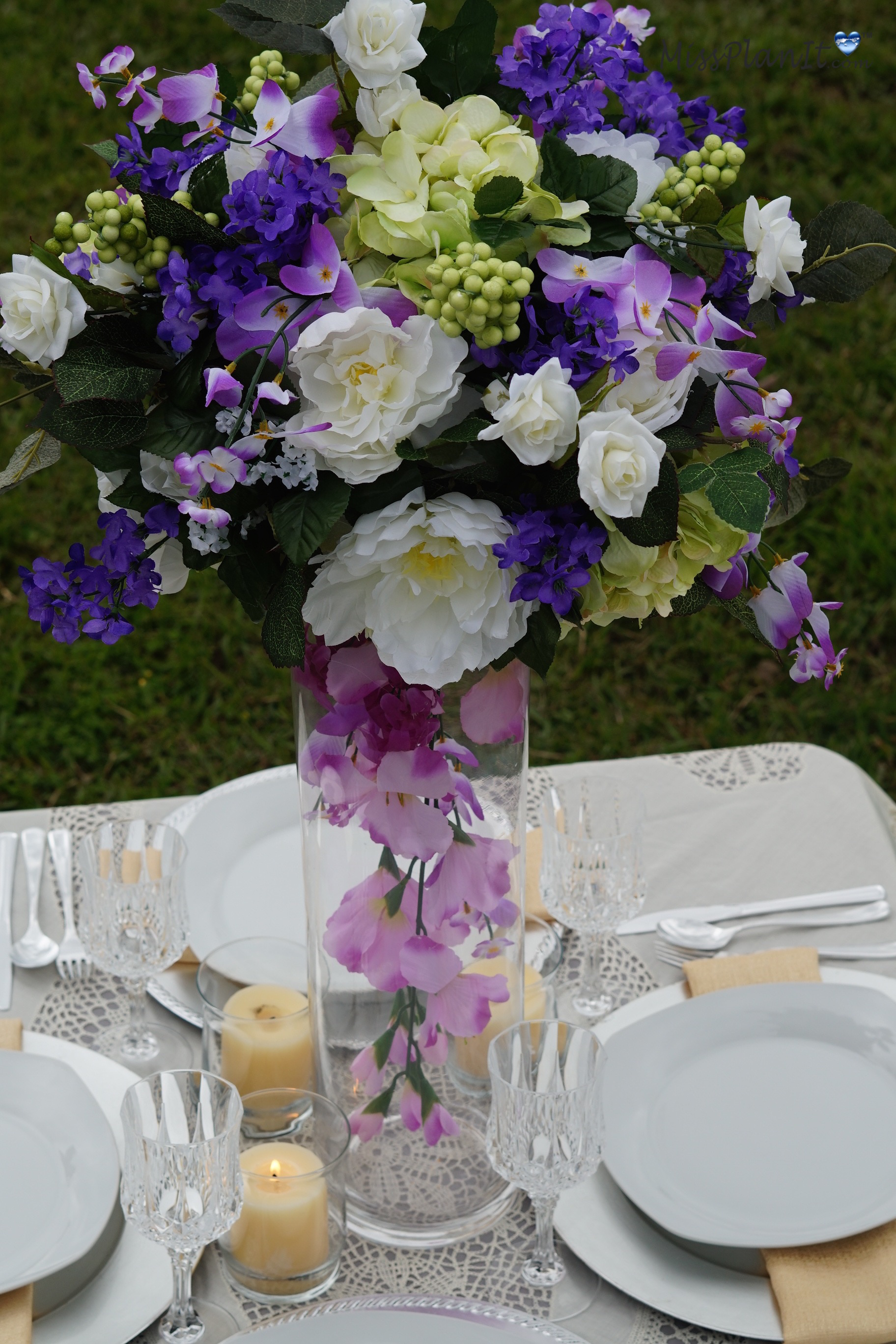 Vase Centerpiece Vases : Diy tutorial spring bouquet tall vase wedding centerpiece