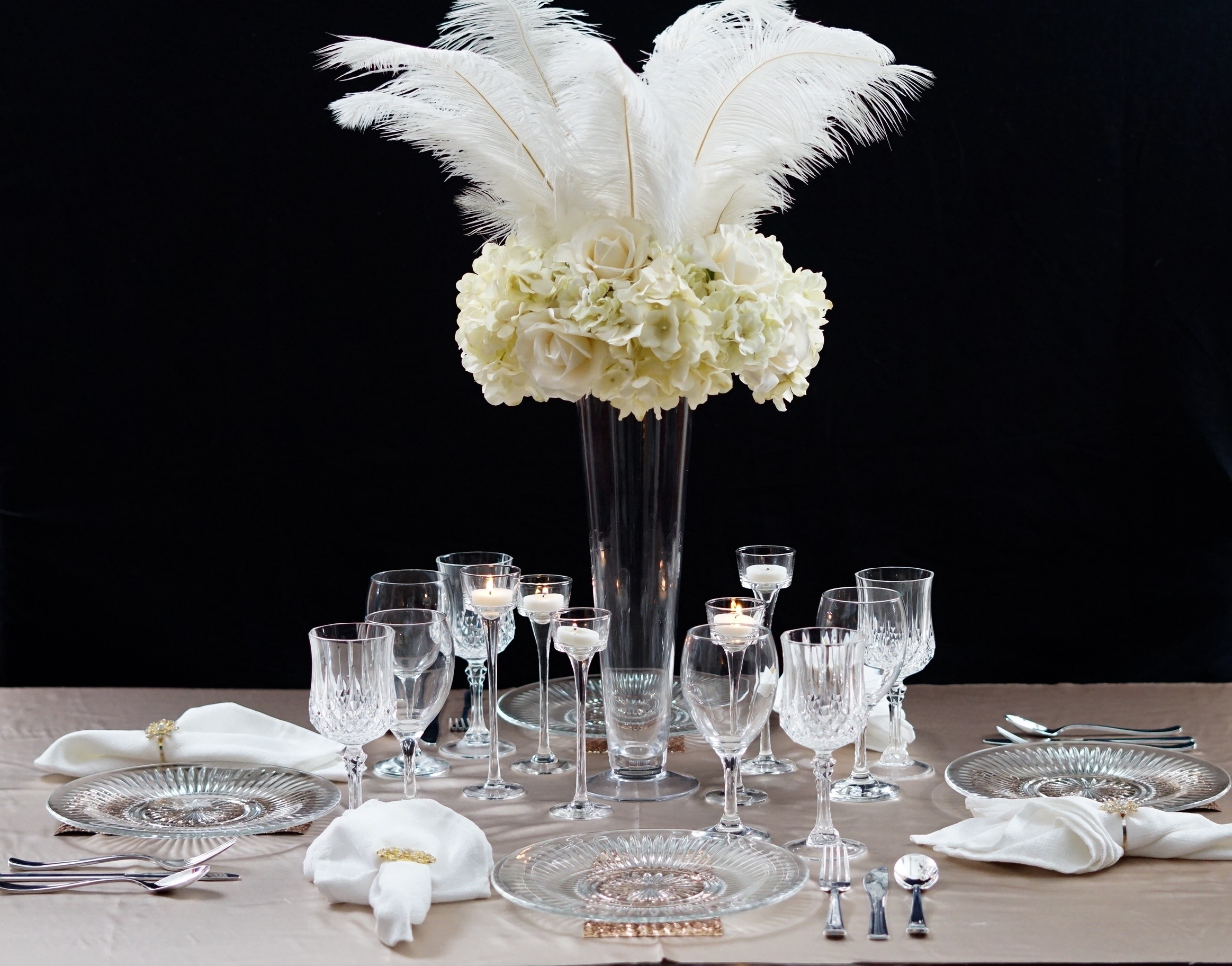 Roaring s great gatsby inspired feather wedding