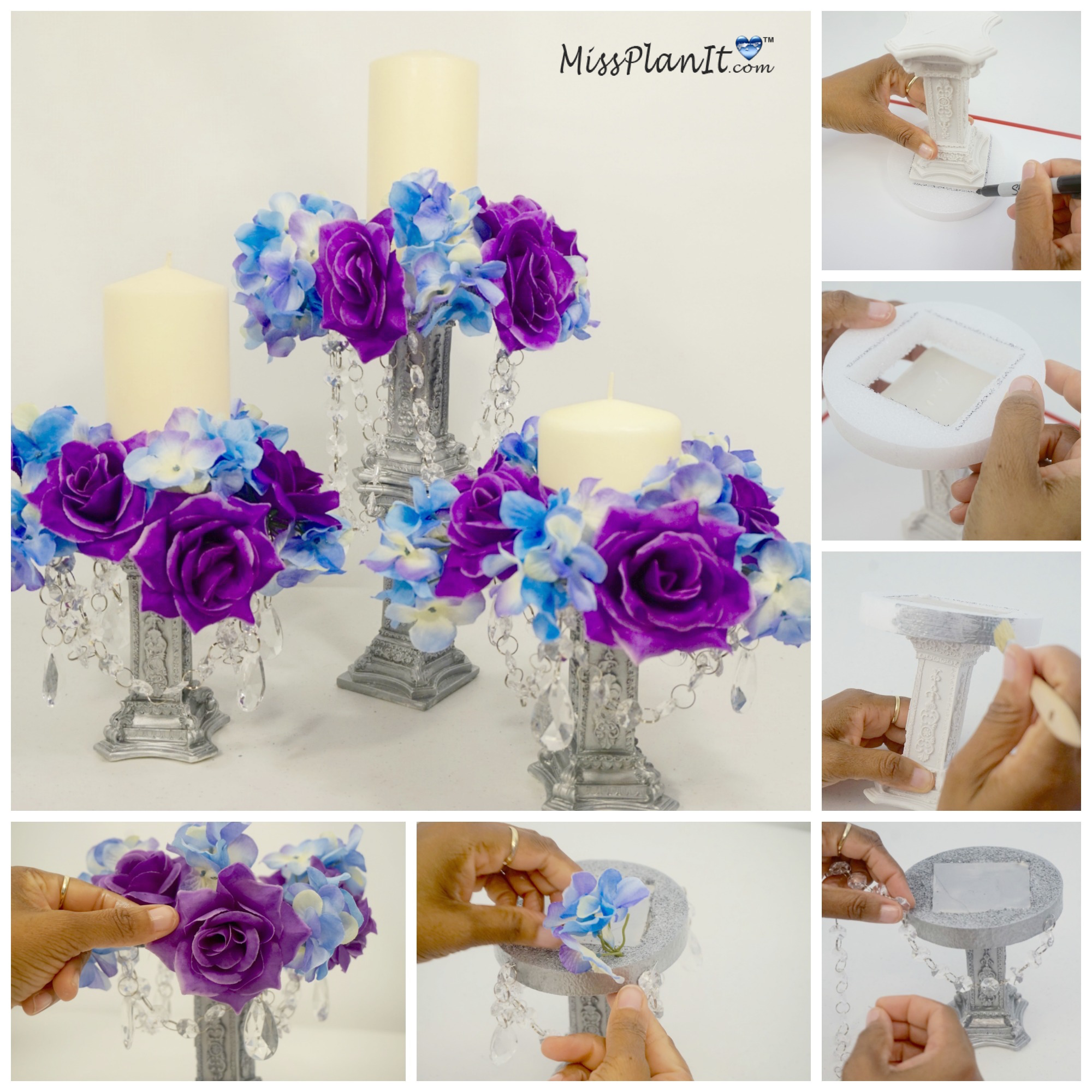 Diy chandelier centerpiece join us this week as we create this elegant yet inexpensive diy centerpiece perfect for any wedding event or dining room table aloadofball Images