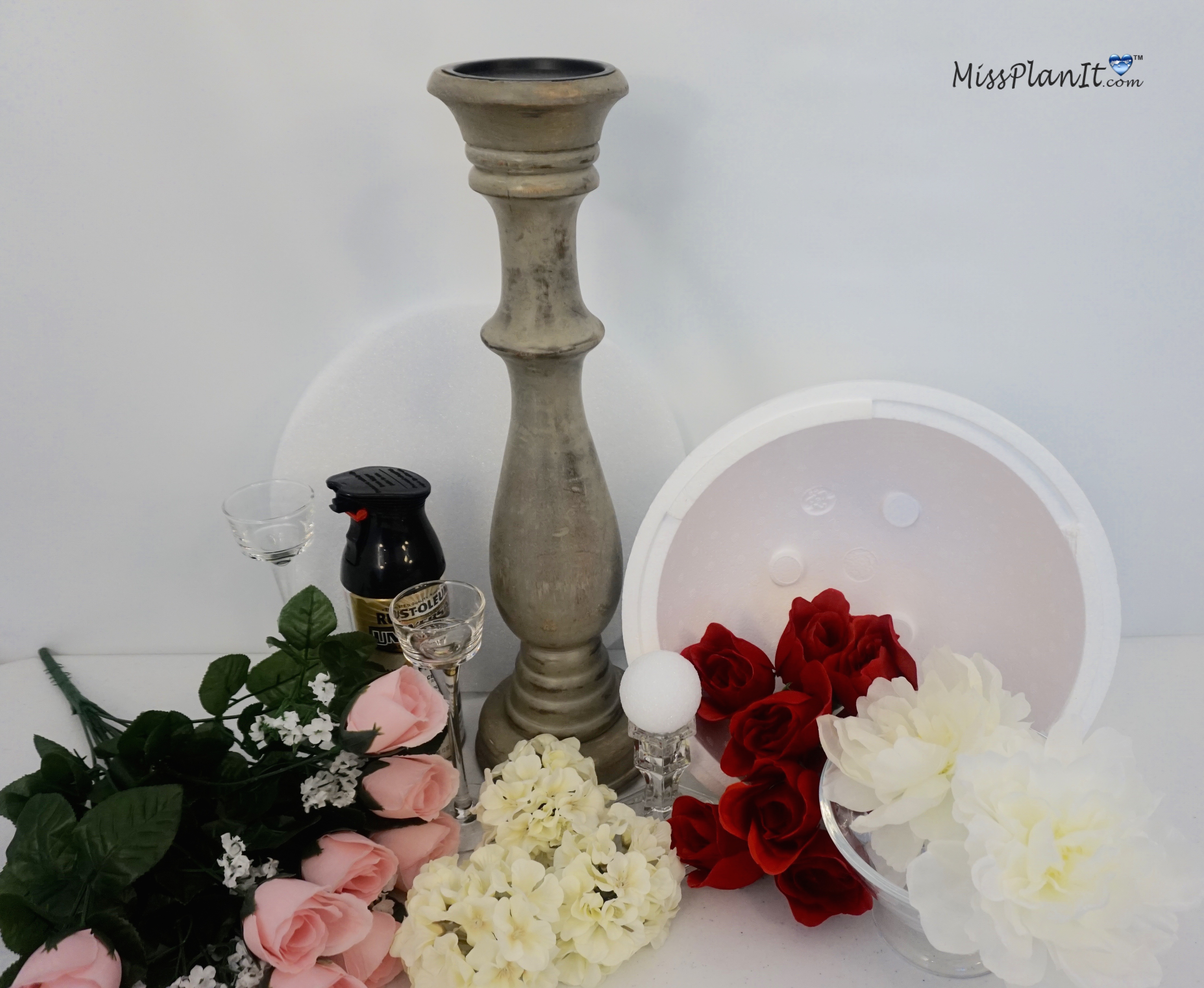 Dollar Tree Inspired DIY Ball Valentine\'s Day Wedding Centerpiece