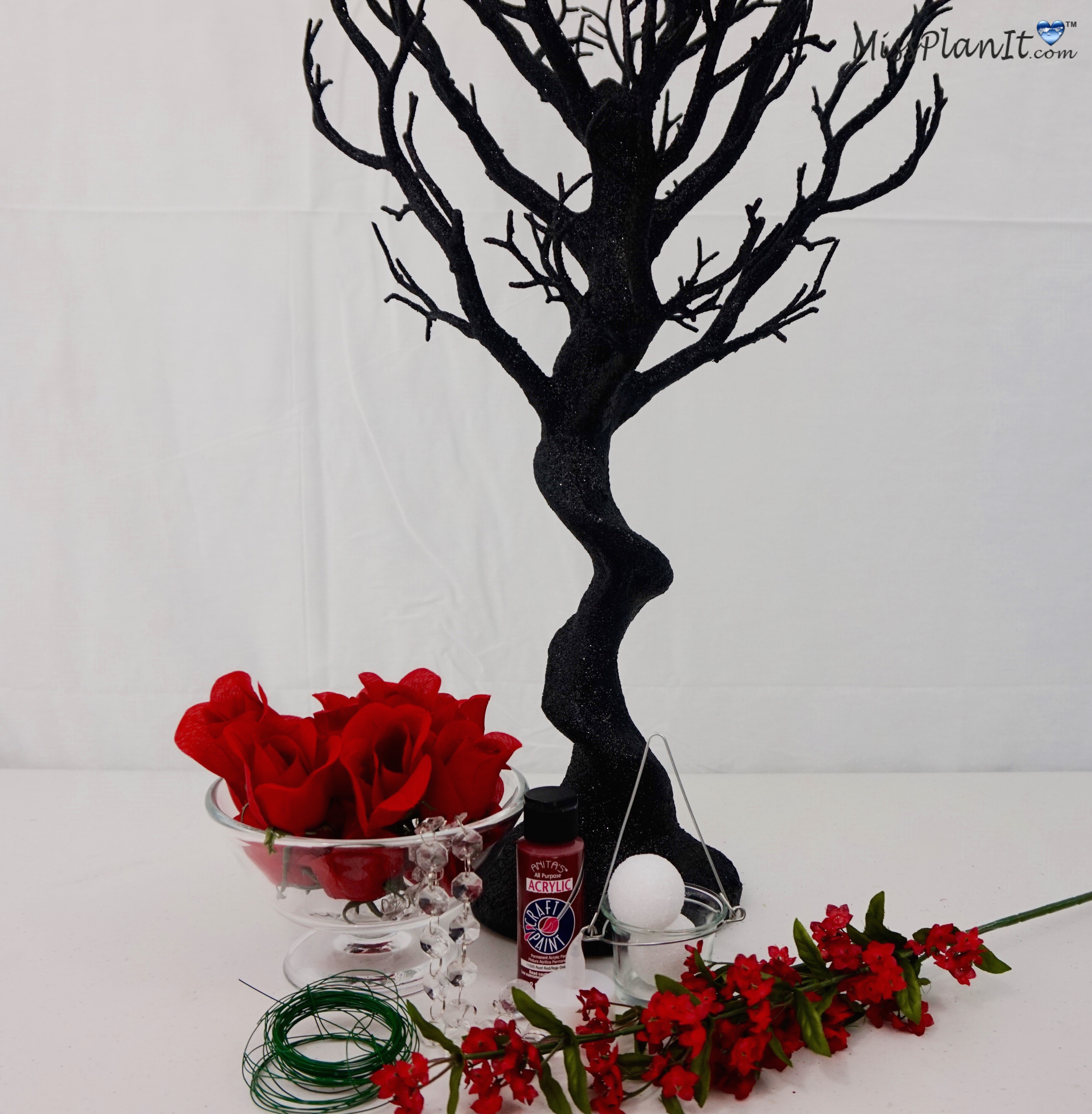 DIY Rose Wedding Centerpiece