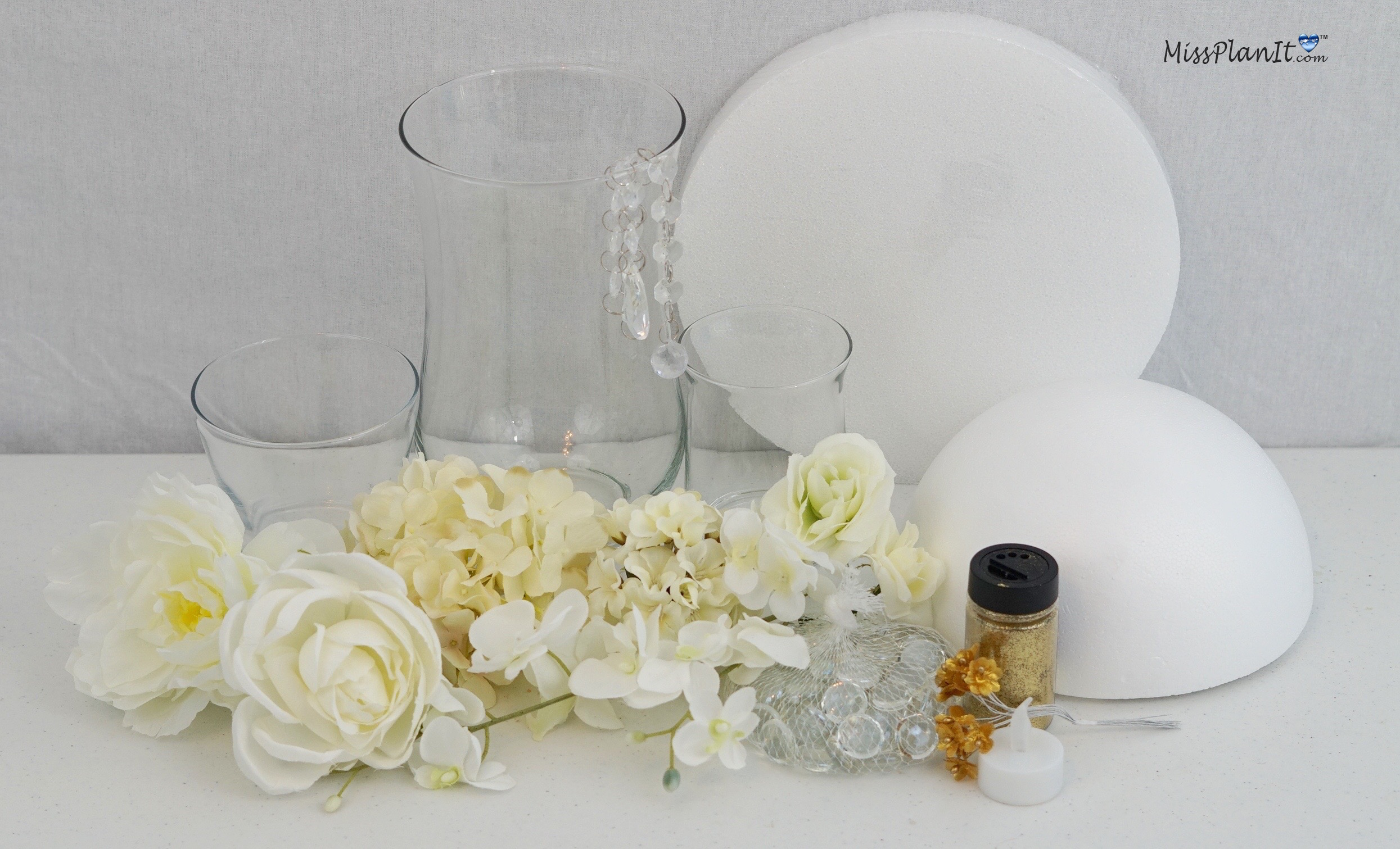 DIY Tutorial Heavenly Dream Winter Wedding Centerpiece