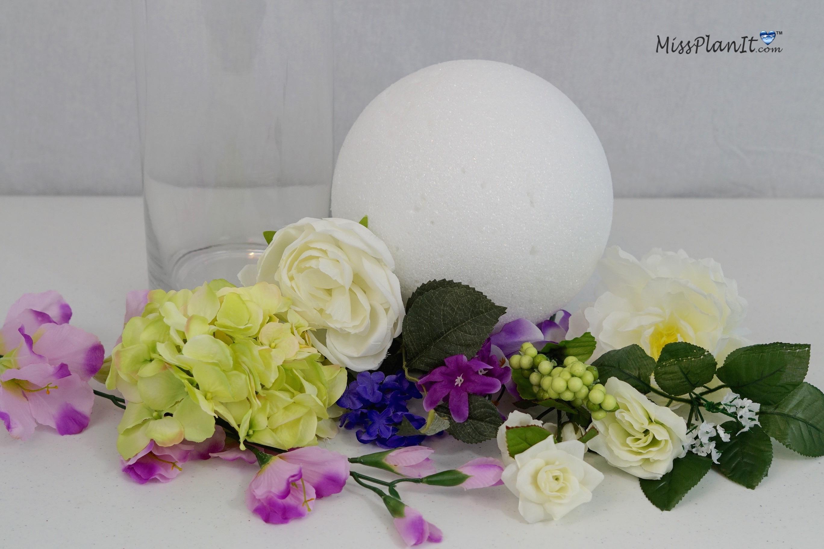 Swell Diy Tutorial Spring Bouquet Tall Vase Wedding Centerpiece Download Free Architecture Designs Oxytwazosbritishbridgeorg