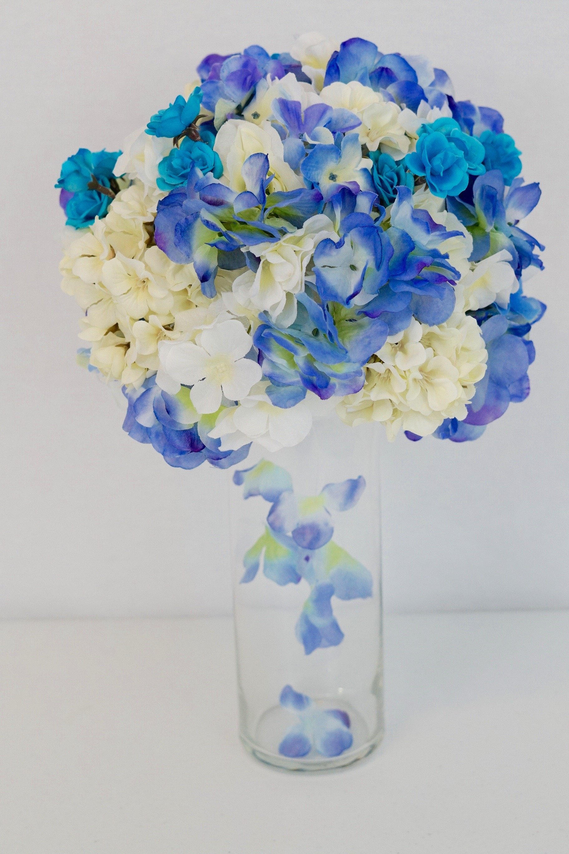 DIY Tutorial Blue Skies Wedding Centerpiece