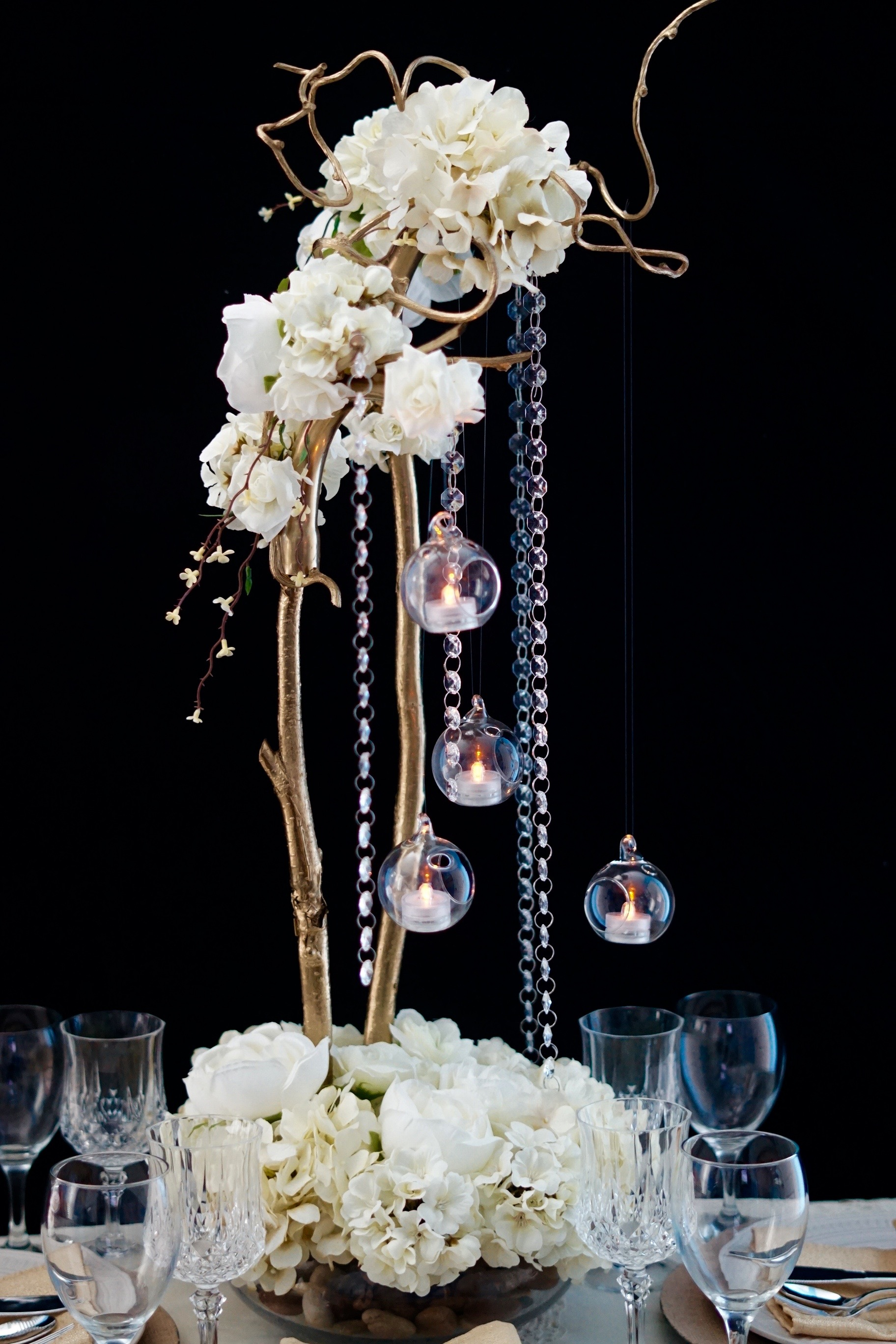 diy secret garden tall wedding centerpiece rh missplanit com  diy tall elegant wedding centerpieces