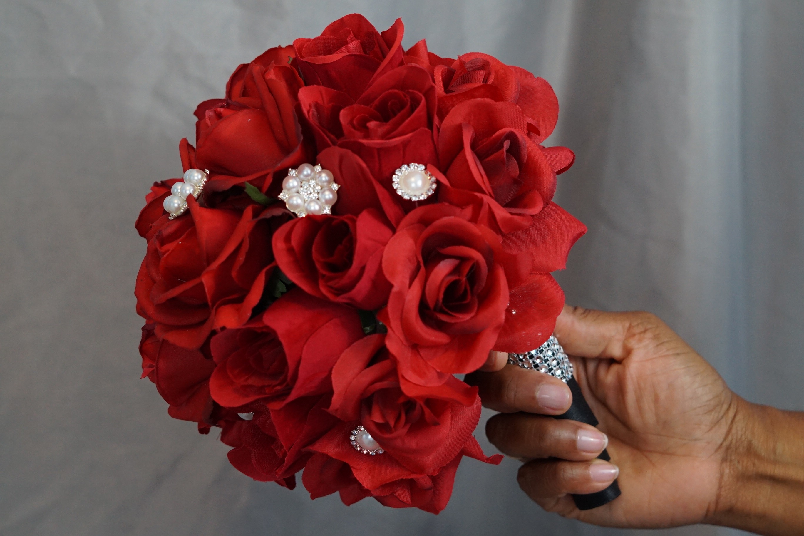 Simple To Make Beautiful Rose Wedding Bouquet For Less Than $30