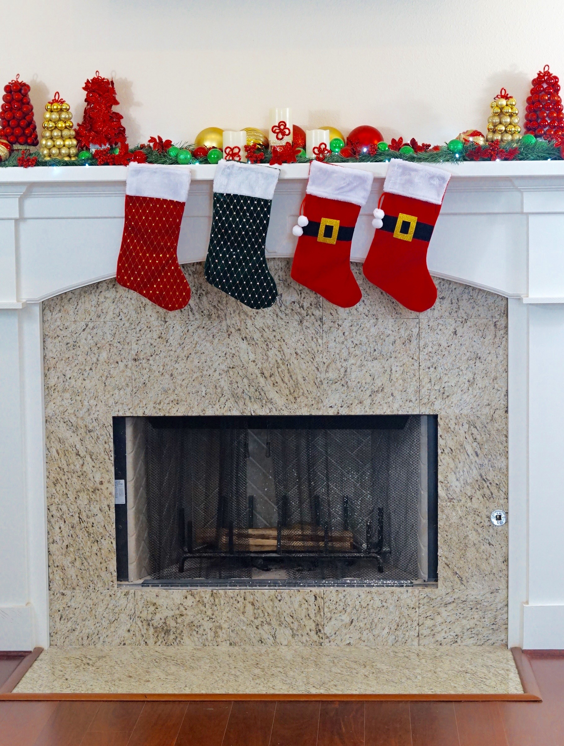 Gorgeous Fireplace Mantel With Diy Dollar Tree Christmas Decorations