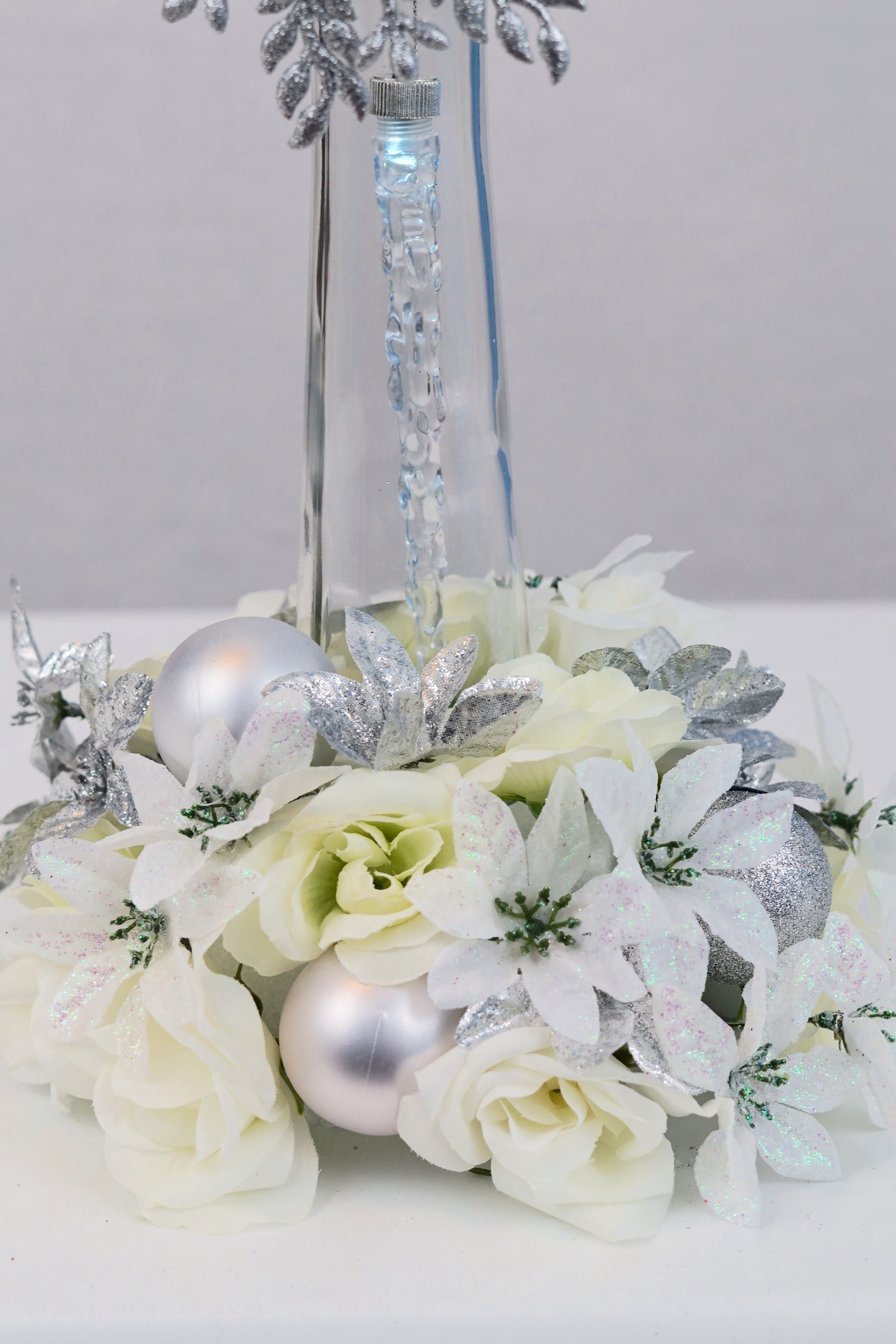 Elegant Dollar Tree Wedding Centerpiece Perfect For A Winter Wedding