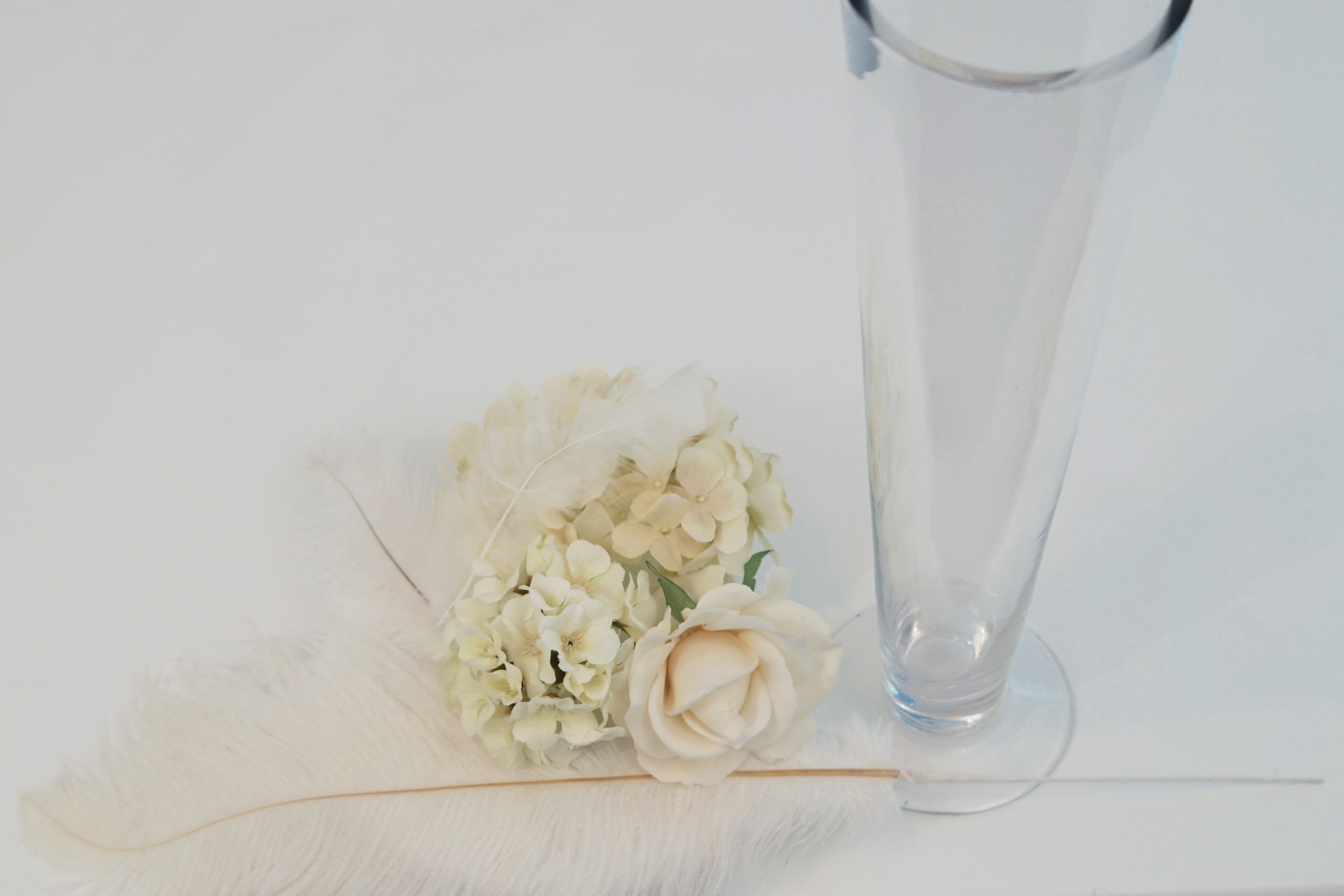 Roaring 20s   Great Gatsby-Inspired Feather Wedding Centerpiece