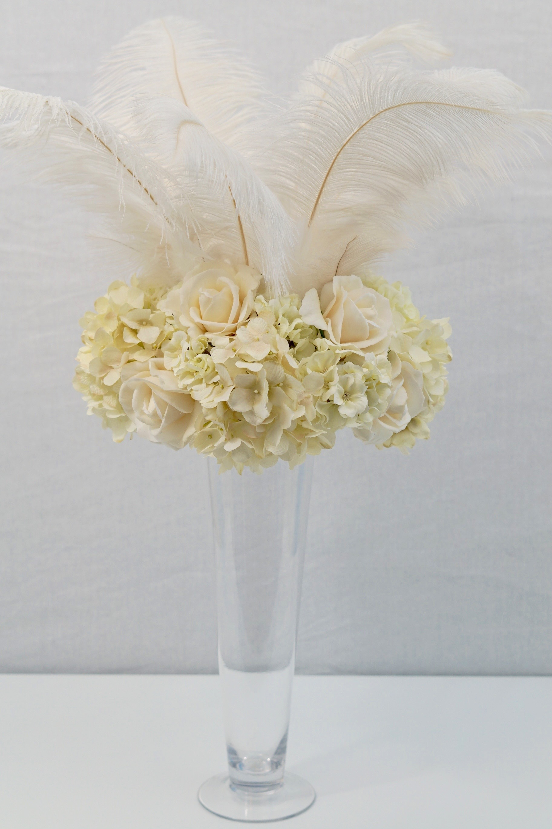Roaring 20s | Great Gatsby-Inspired Feather Wedding Centerpiece