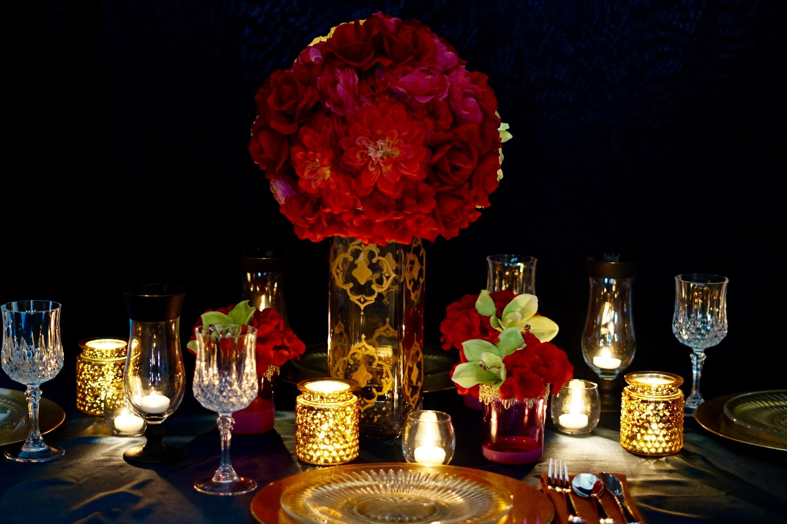 Gorgeous diy moroccan red and gold wedding centerpiece junglespirit Gallery