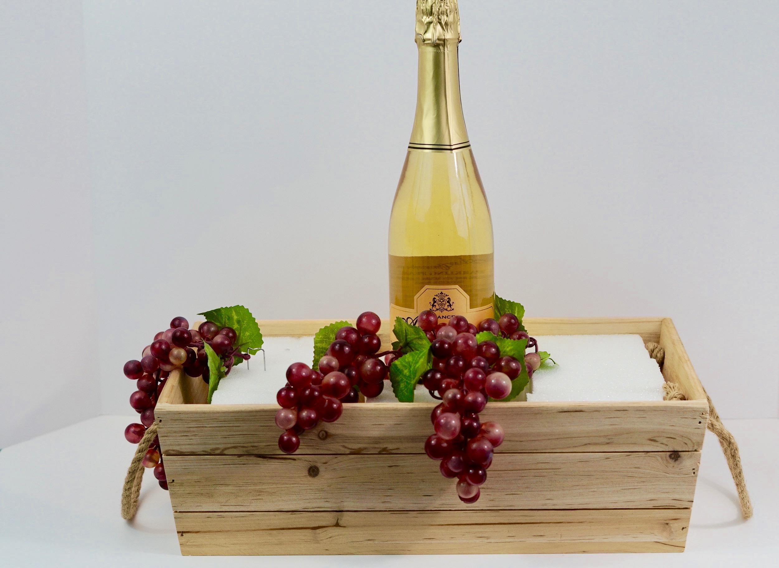 Rustic Wine Themed Wooden Crate DIY Wedding Centerpiece