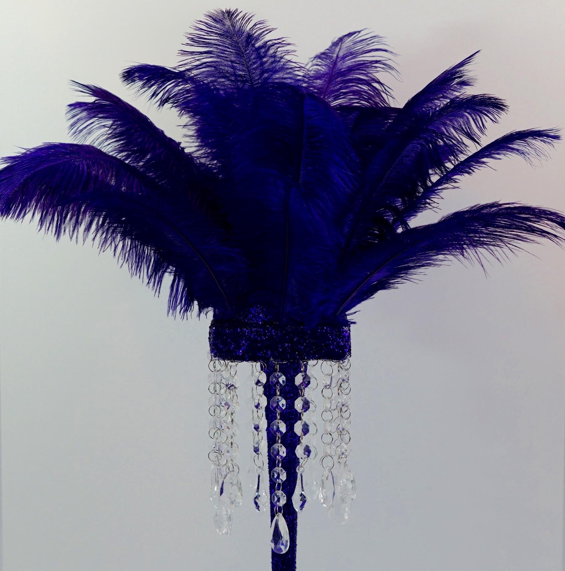 Purple Feather Centerpiece 15