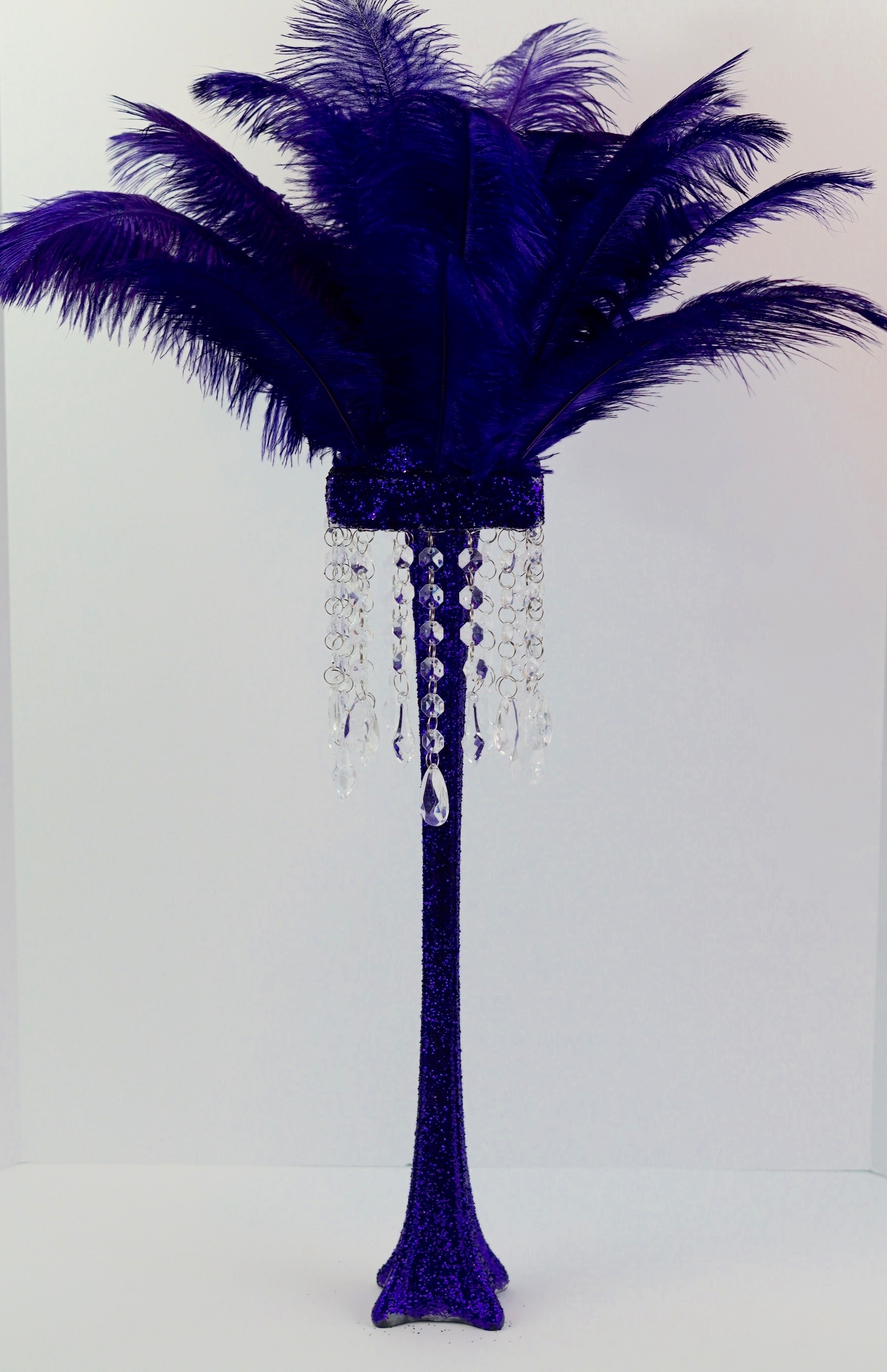 Fabulous Tall Purple Feather DIY Centerpiece In 5 Easy Steps