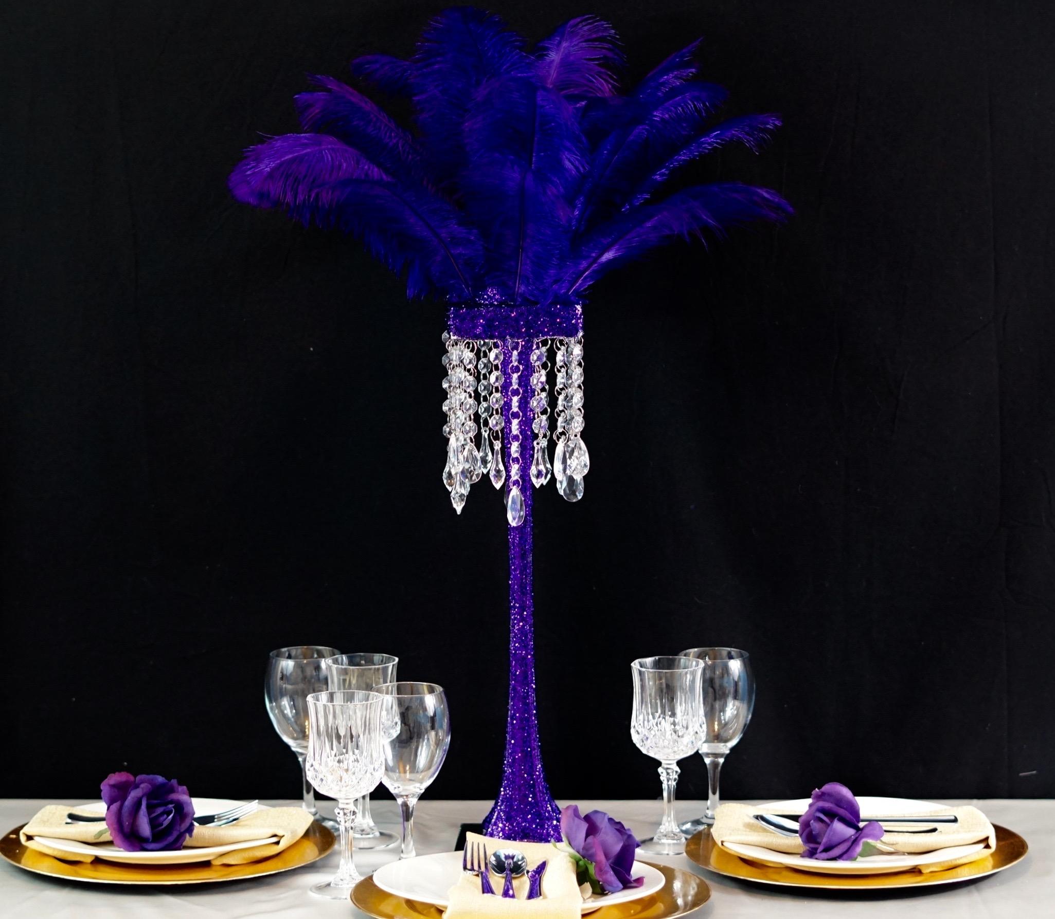 Purple Feather Centerpiece 19