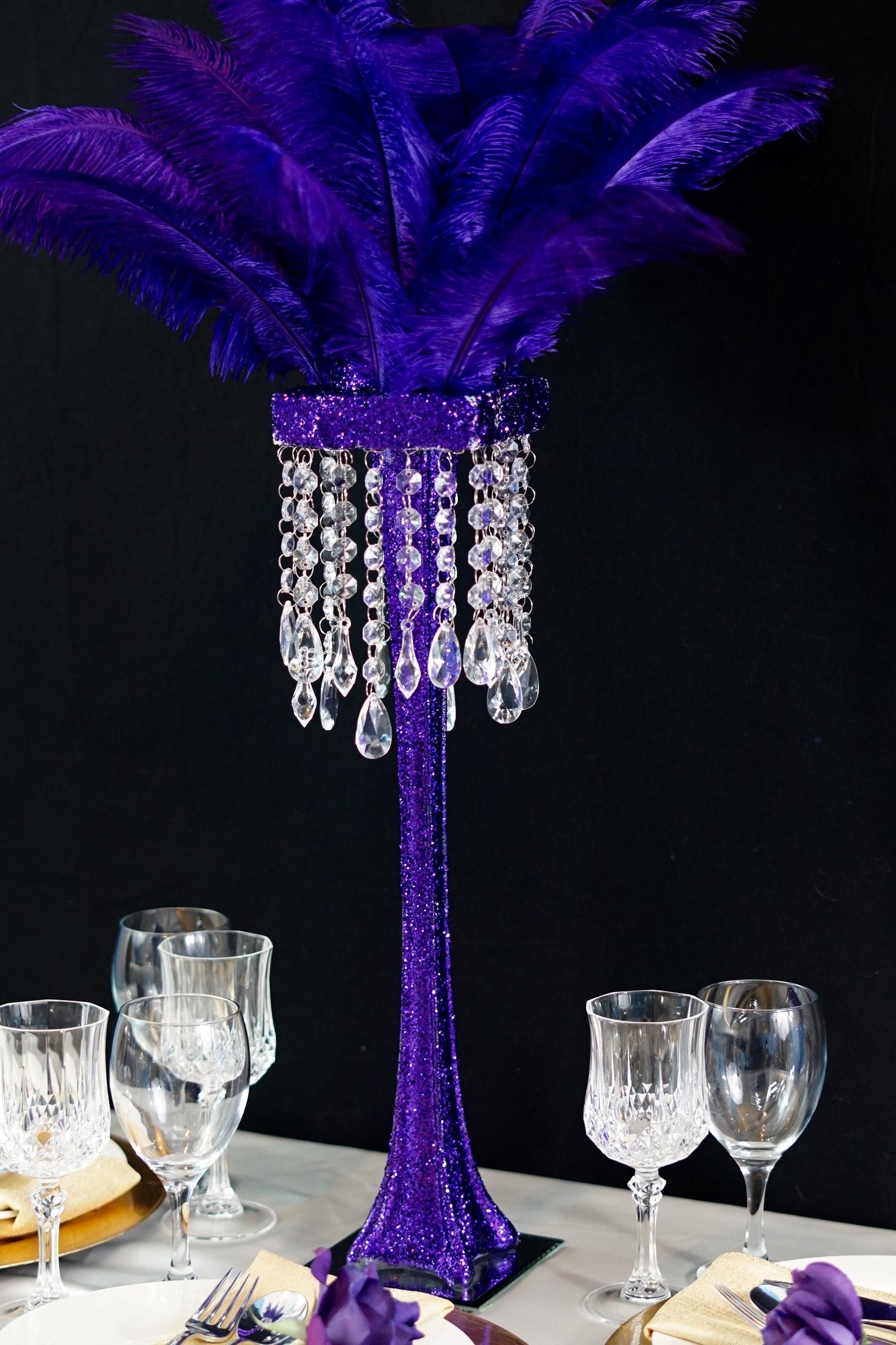 Purple Feather Centerpiece 22