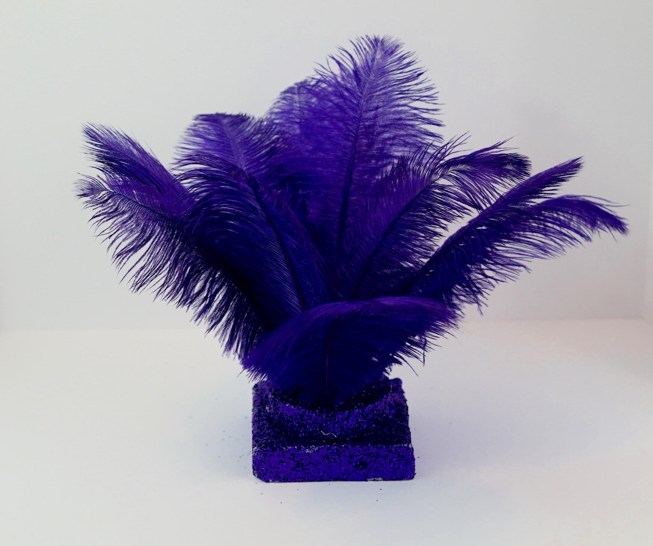 Purple Feather Centerpiece 7
