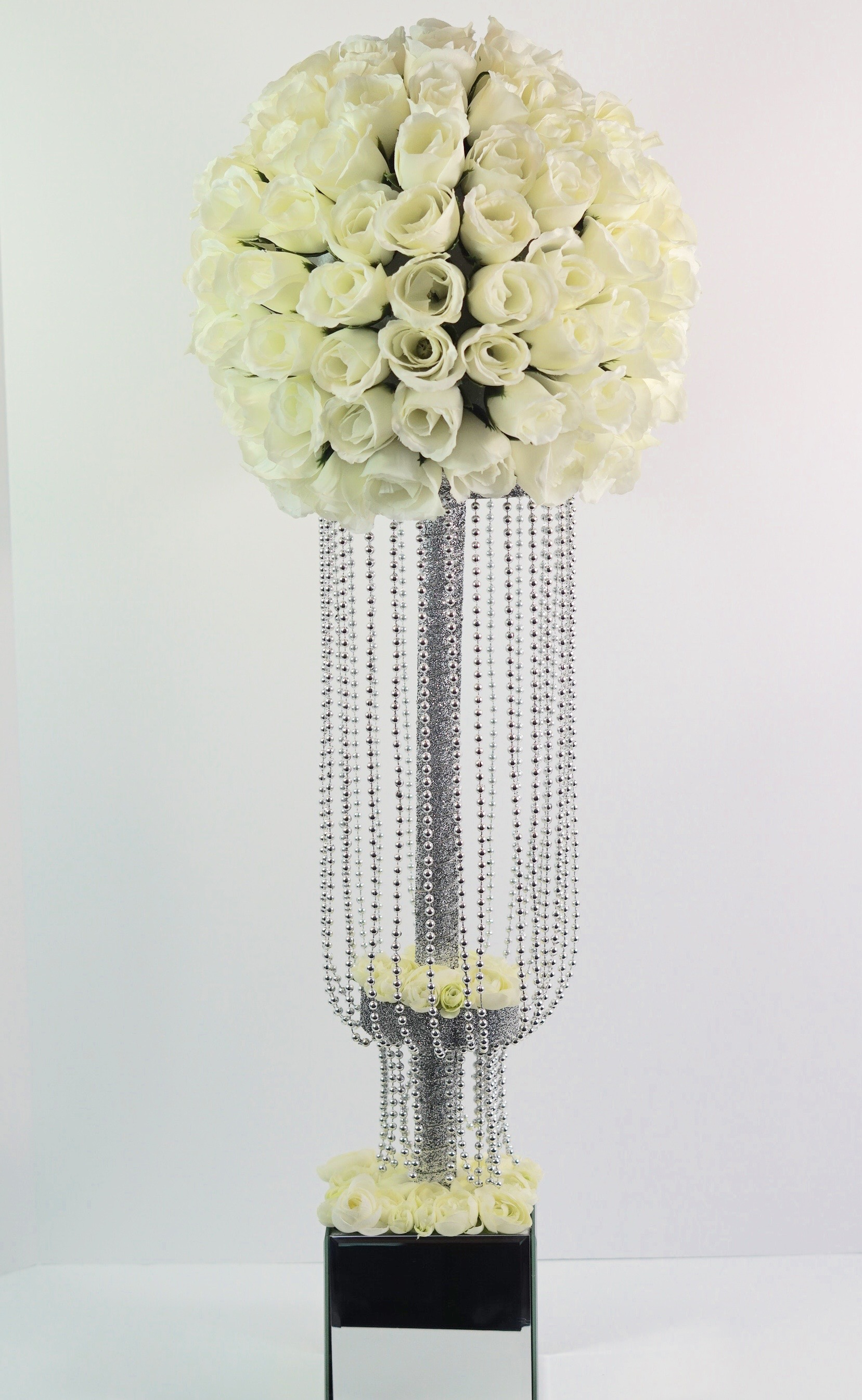 Tall Waterfall Beaded Centerpiece For Your Wedding or Bridal Shower