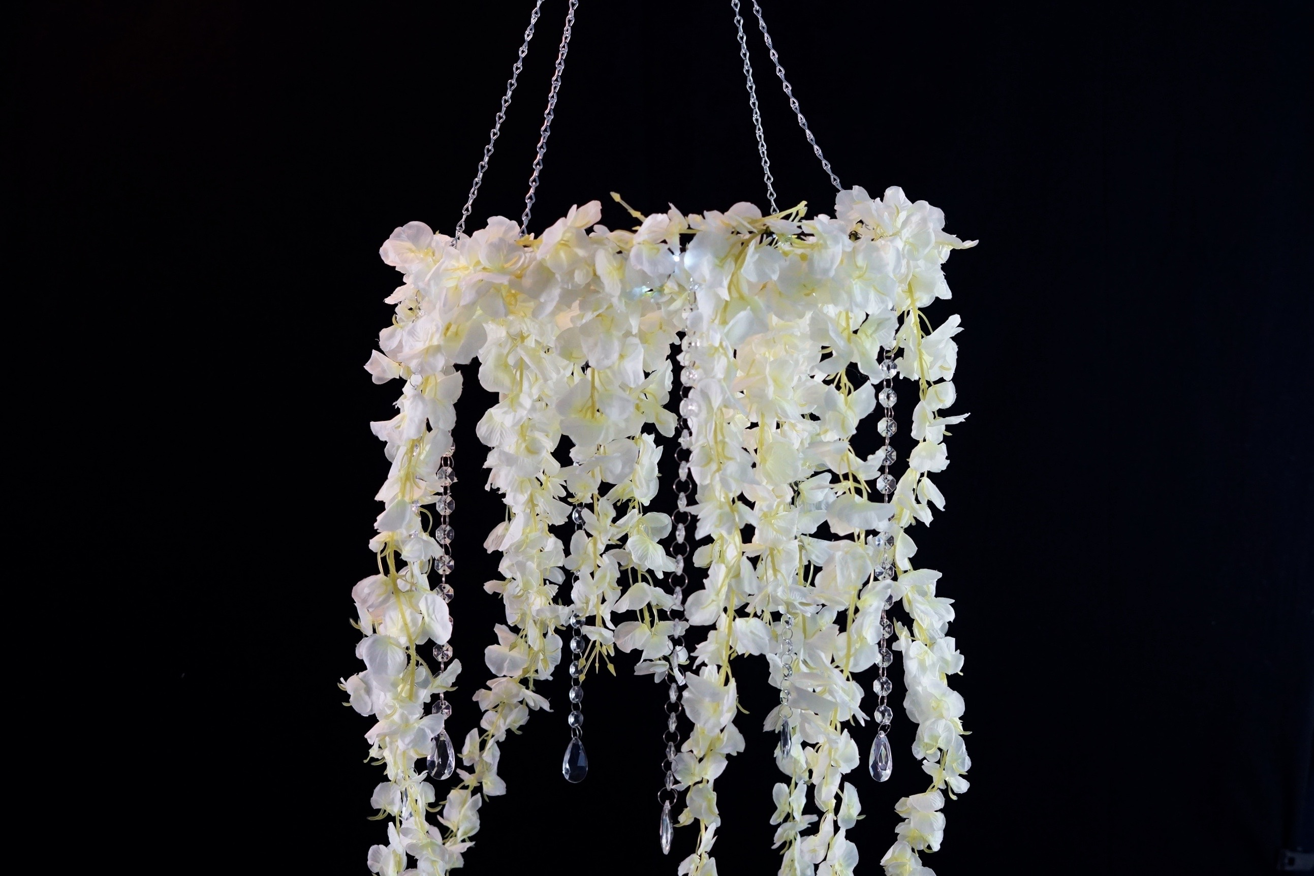 Recreate this beautiful hanging diy wedding floral chandelier hanging floral chandelier aloadofball Image collections