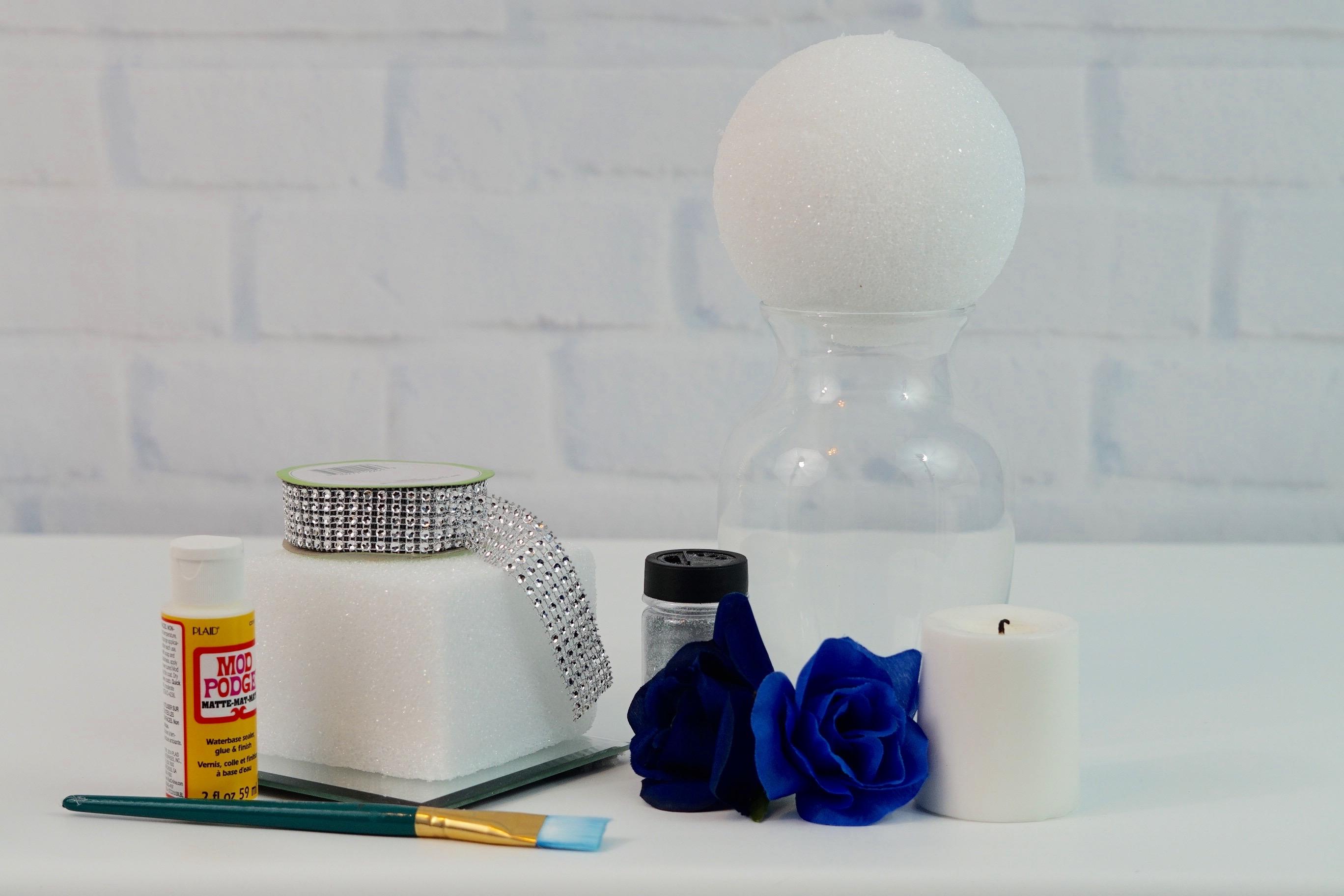 3 Royal Blue Wedding or Quincenera Centerpiece Ideas for Under $10