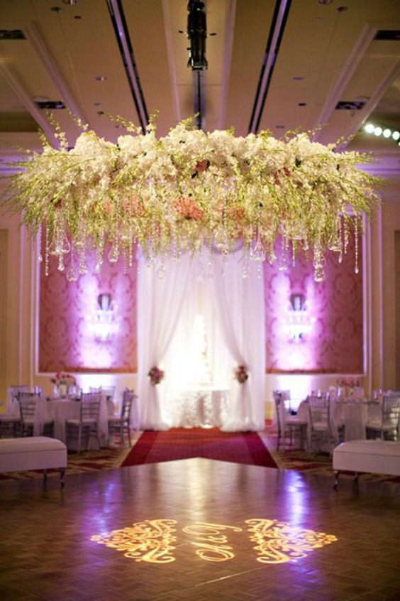 26 must see wedding chandeliers you could totally diy with a hula hoop source behind the curtain events aloadofball Gallery