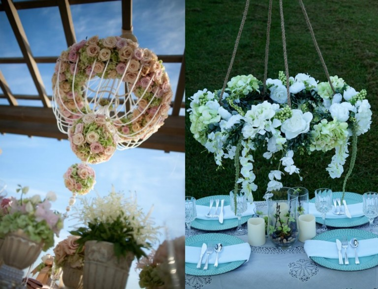 26 Must-See Wedding Chandeliers You Could Totally DIY with a Hula Hoop