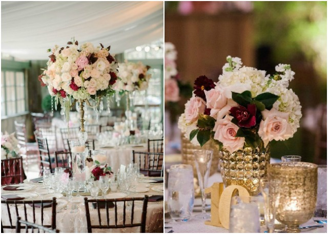 10 Burgundy and Blush Wedding Ideas For Your Wedding Centerpieces