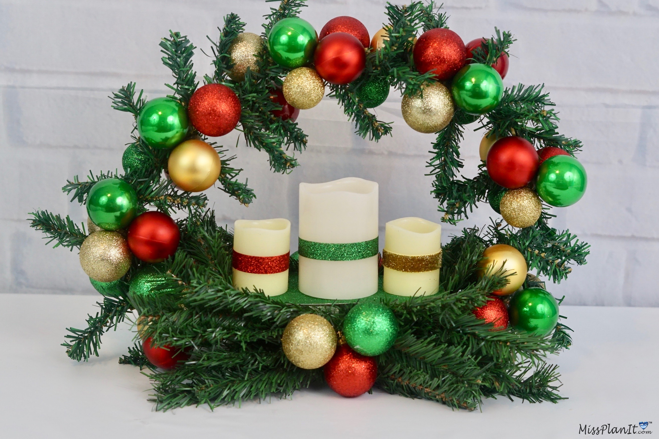 10 Dollar Tree Diy Christmas Wreath Centerpiece That Is Perfect For The Holidays