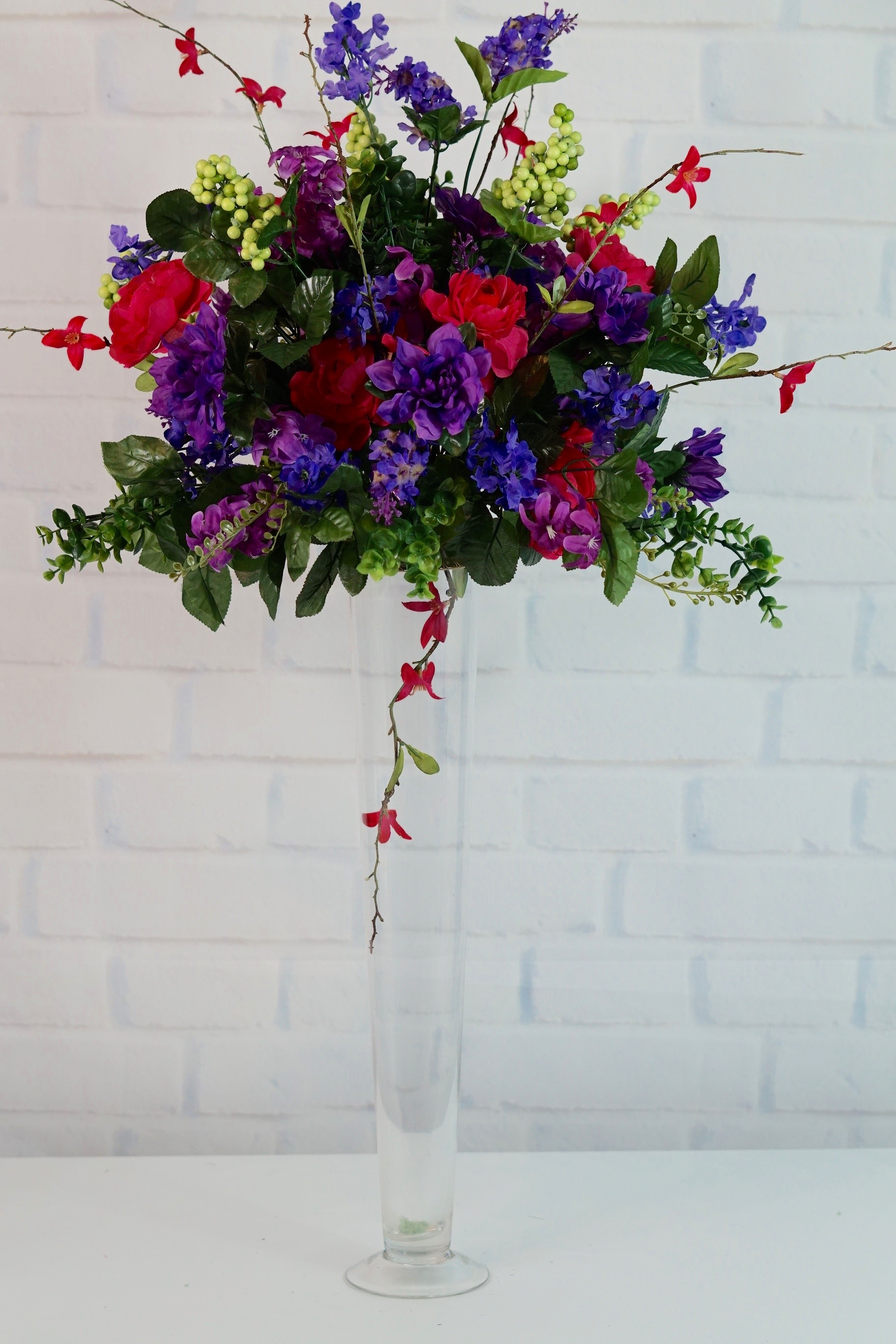 Enchanting How To Make A Tall Centerpiece For Wedding Pictures ...