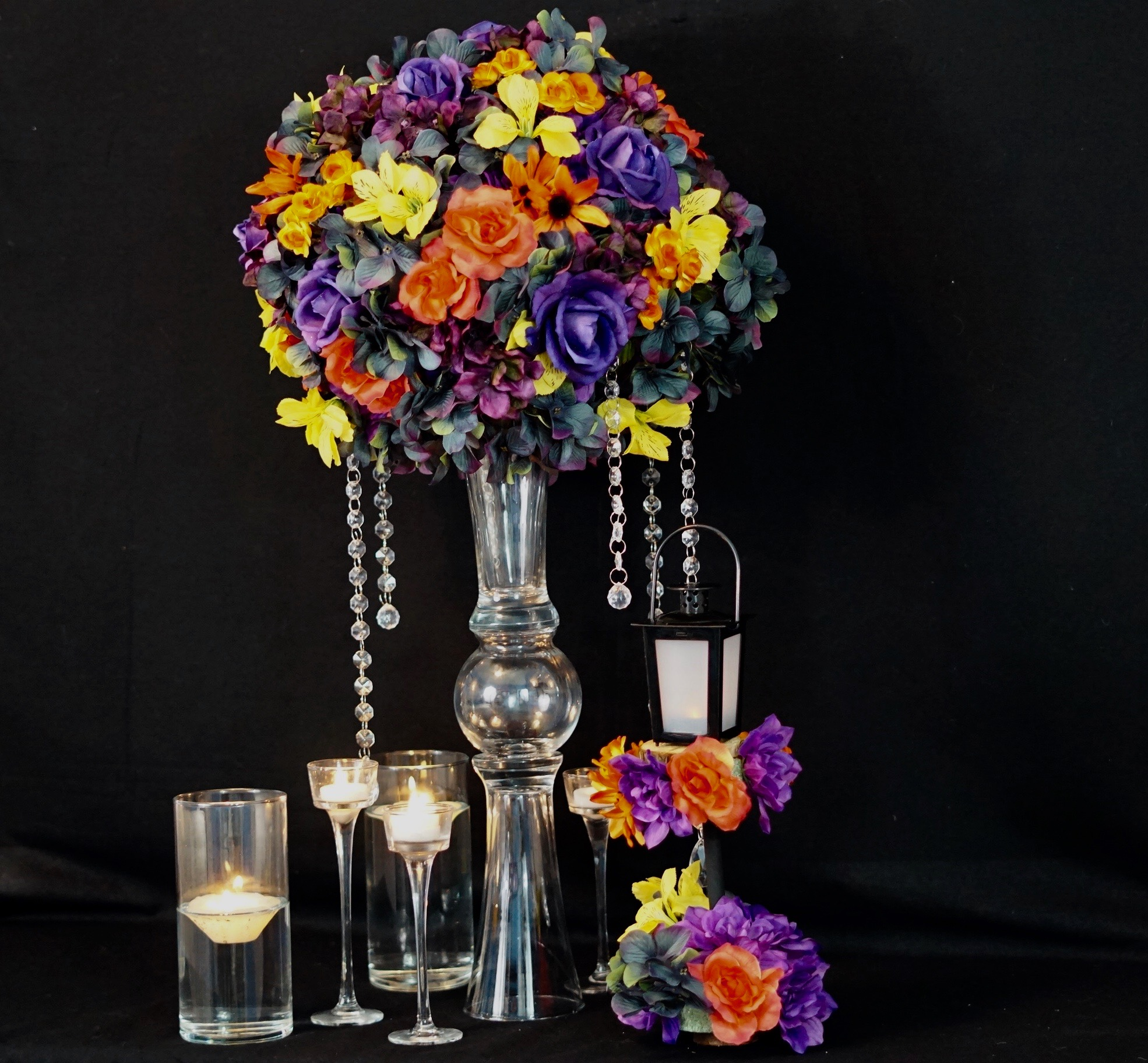 How To Make A Tall Fall Wedding Centerpiece With A 3 Diy Dollar Tree Wedding Vase