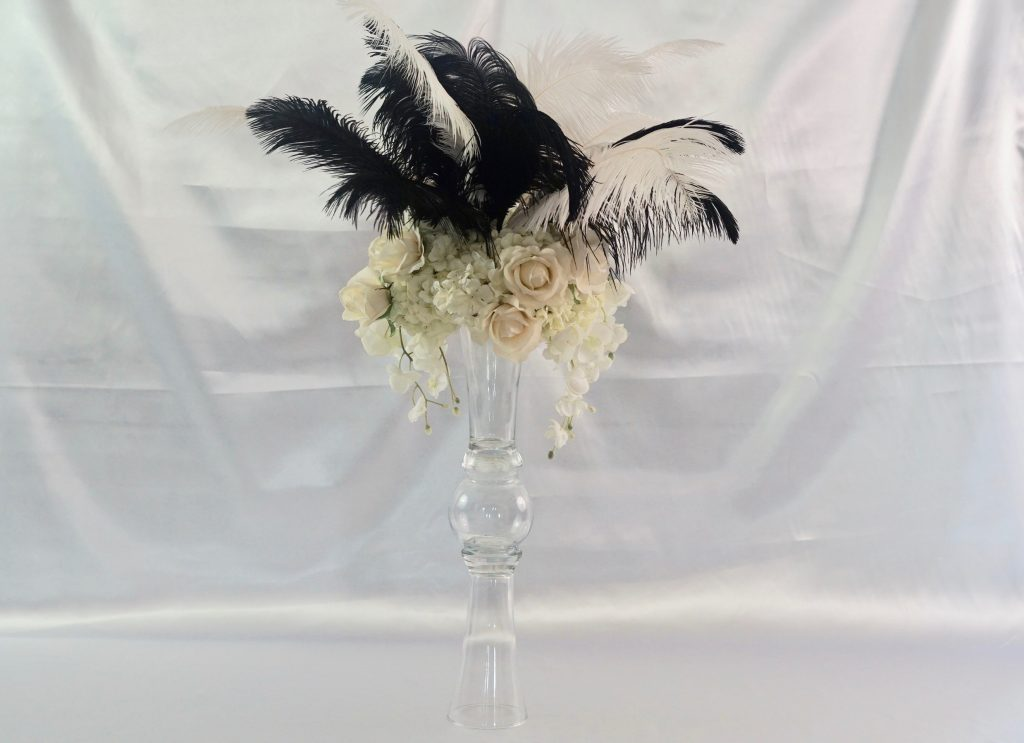 Diy Feather Wedding Centerpiece With 3 Dollar Tree Vase