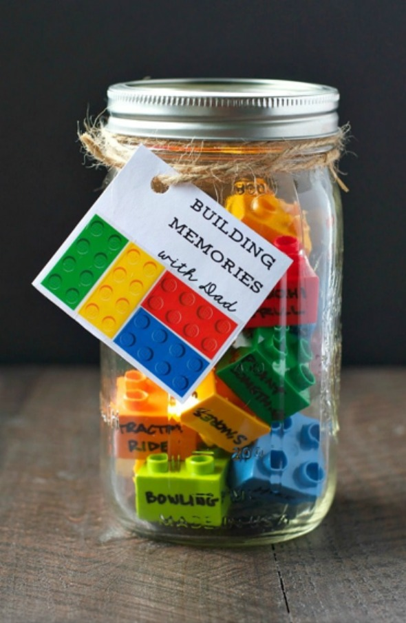 00ee6fc61 Build memories with dad..literally..with these lego activity blocks. Fathers  Day Gifts from Kids