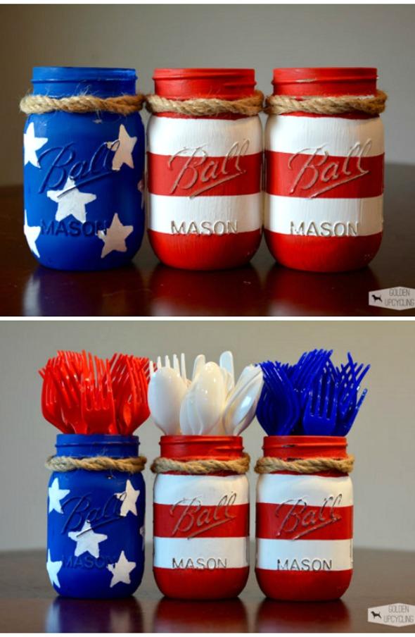 10 Patriotic Party Diy Mason Jar Fourth Of July Decorations