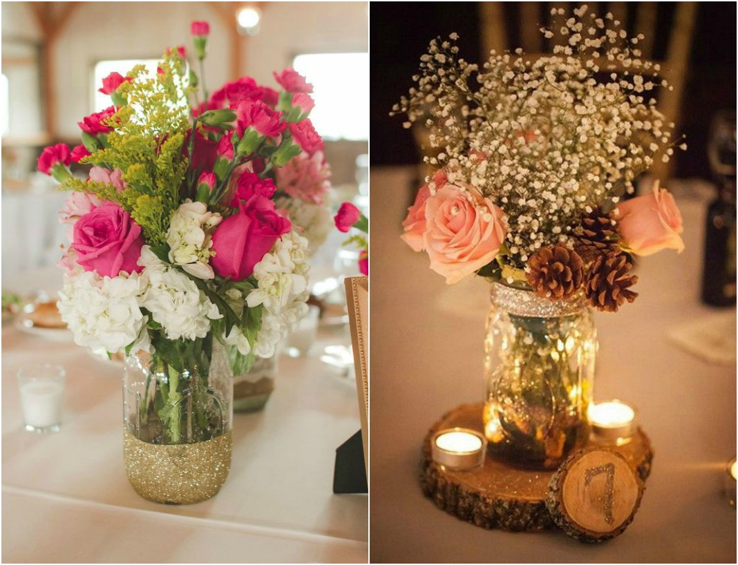 Mason Jar Wedding Centerpieces.10 Beautiful Mason Jar Wedding Centerpieces On A Budget