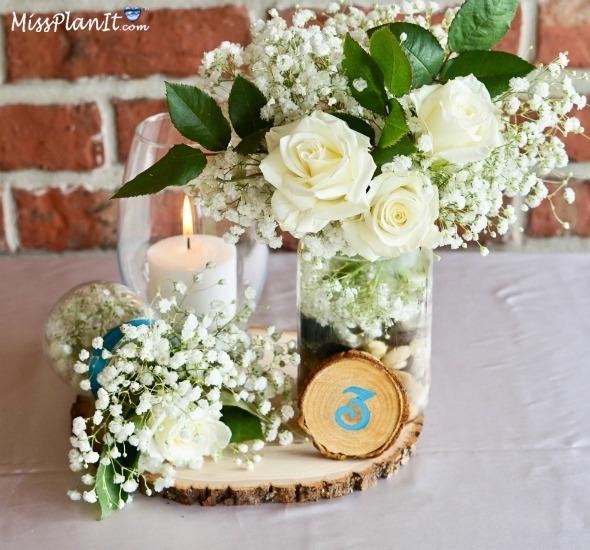 Diy Rustic Wedding Centerpieces: DIY Fresh Flower Rustic Wedding Centerpieces For Under $25