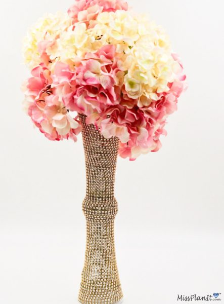 Blush Pink and Gold Wedding Centerpiece